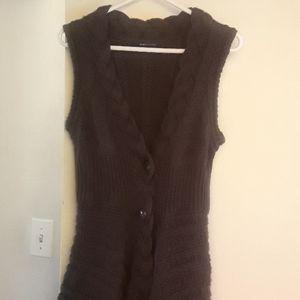 Button down sweater vest.